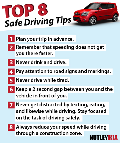 Driving Safety Tips >> Nutley Kia S Top 8 Safe Driving Tips Driving Tips